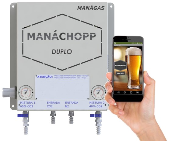 Melhorar espuma do chopp / cerveja com Nitrogênio e CO2 - Misturador de Gases