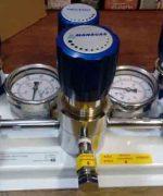 Central Manifold para Gases Oxigênio, Hélio, Nitrogênio, Hidrogênio, Ar Sintético,... manual ou automática para um ou dois cilindros