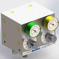 Blender Misturador de Ar x O2 - Circulação Extracorpórea - Misturador de Gases Hospitalar Medicinal